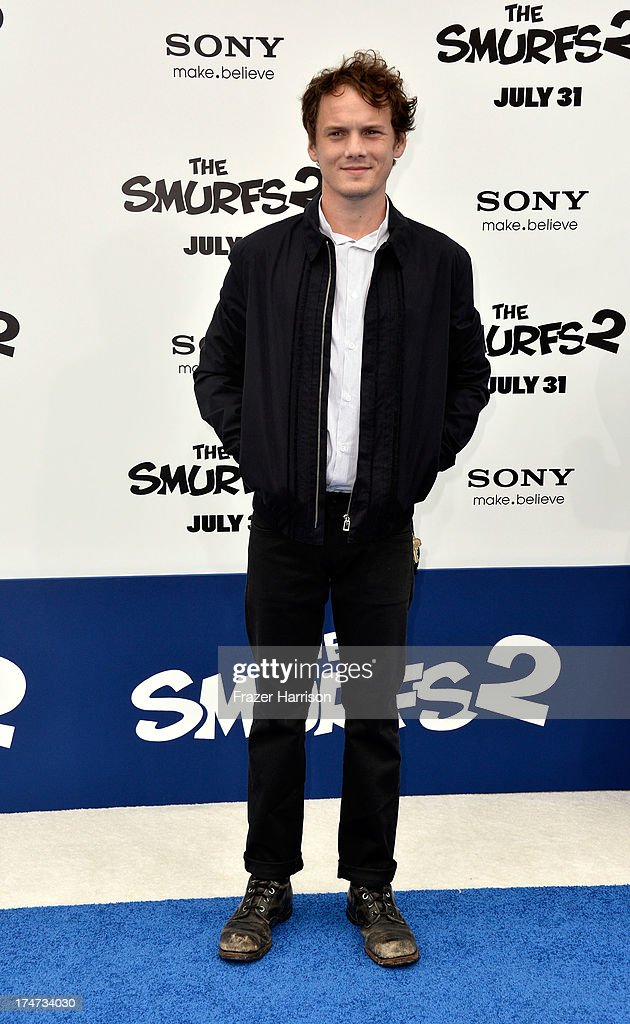 Actor <a gi-track='captionPersonalityLinkClicked' href=/galleries/search?phrase=Anton+Yelchin&family=editorial&specificpeople=793274 ng-click='$event.stopPropagation()'>Anton Yelchin</a> attends the premiere of Columbia Pictures' 'Smurfs 2' at Regency Village Theatre on July 28, 2013 in Westwood, California.