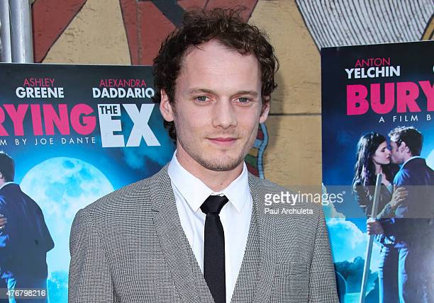 Actor Anton Yelchin attends the special advance screening of 'Bury The Ex' at American Cinematheque's Egyptian Theatre on June 11 2015 in Hollywood...