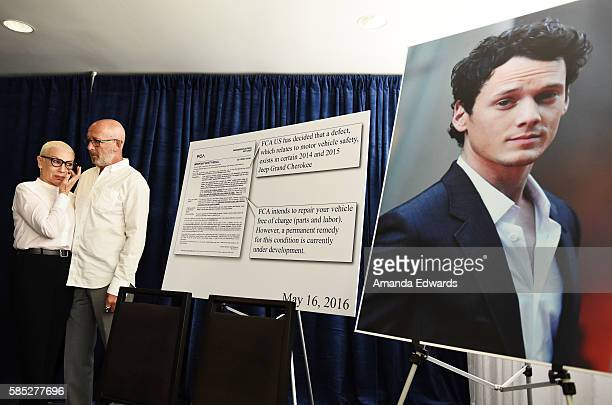 Actor Anton Yelchin's parents Irina Yelchin and Viktor Yelchin hold a press conference regarding the accidental death of their son at the Beverly...