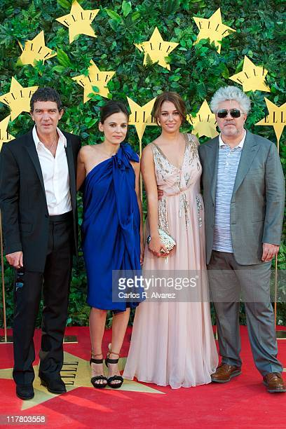 Actor Antonio Banderas actresses Elena Anaya Blanca Suarez and Director Pedro Almodovar attend ELLE Awards 25th Anniversary at the Matadero cultural...