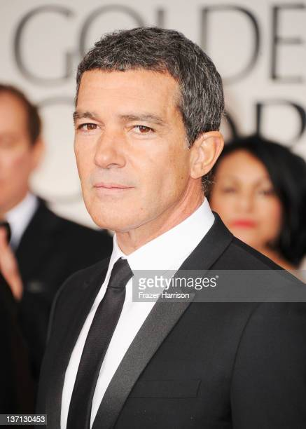 Actor Antonio Banderas arrives at the 69th Annual Golden Globe Awards held at the Beverly Hilton Hotel on January 15 2012 in Beverly Hills California