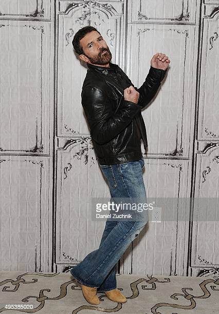 Actor Antonio Banderas attends AOL Build to discuss his new film 'The 33' at AOL Studios on November 2 2015 in New York City