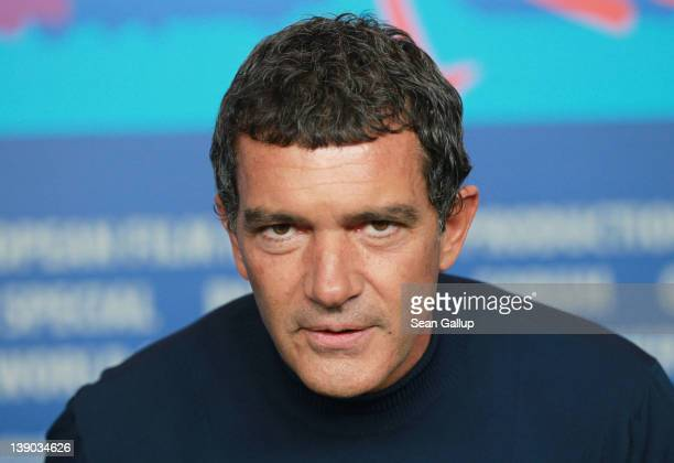 Actor Antonio Banderas attends the 'Haywire' Press Conference during day seven of the 62nd Berlin International Film Festival at the Grand Hyatt on...