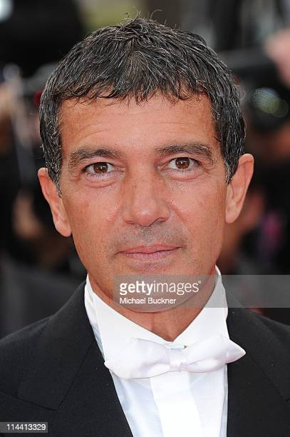 Actor Antonio Banderas attends the 'The Skin I Live In' premiere at the Palais des Festivals during the 64th Cannes Film Festival on May 19 2011 in...
