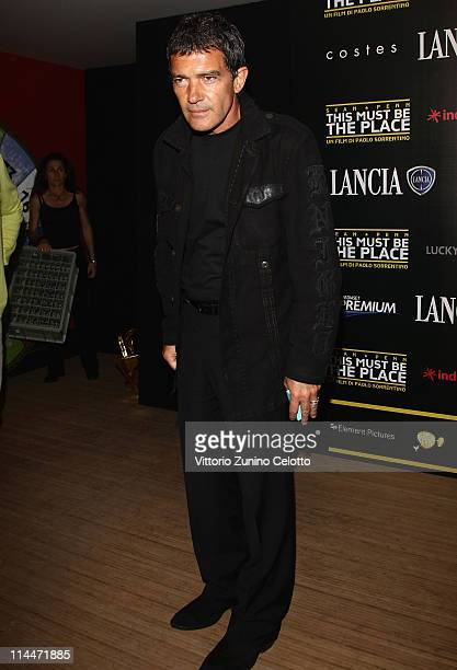Actor Antonio Banderas attends the 'This Must Be The Place' party hosted by Lancia during the 64th Cannes Film Festival at Plage La Mandala on May 20...