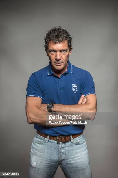 Actor Antonio Banderas is photographed for Paris Match on August 7 2014 in Paris France