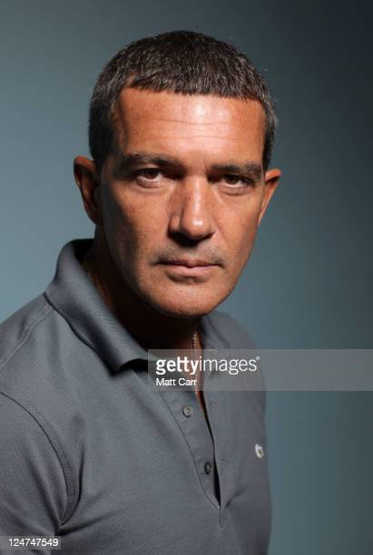 Actor Antonio Banderas of 'The Skin I Live In' poses during the 2011 Toronto Film Festival at Guess Portrait Studio on September 12 2011 in Toronto...