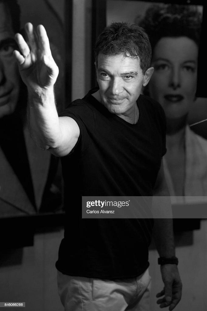 Actor Antonio Banderas presents 'Vibuk.com' at the Palacio de la Prensa cinema on September 12, 2017 in Madrid, Spain.