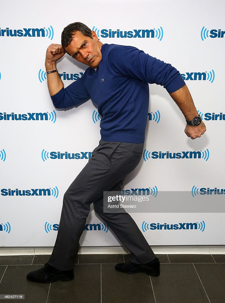 Actor <a gi-track='captionPersonalityLinkClicked' href=/galleries/search?phrase=Antonio+Banderas&family=editorial&specificpeople=171176 ng-click='$event.stopPropagation()'>Antonio Banderas</a> visits the SiriusXM Studios on January 28, 2015 in New York City.