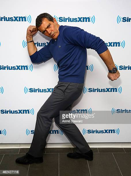 Actor Antonio Banderas visits the SiriusXM Studios on January 28 2015 in New York City