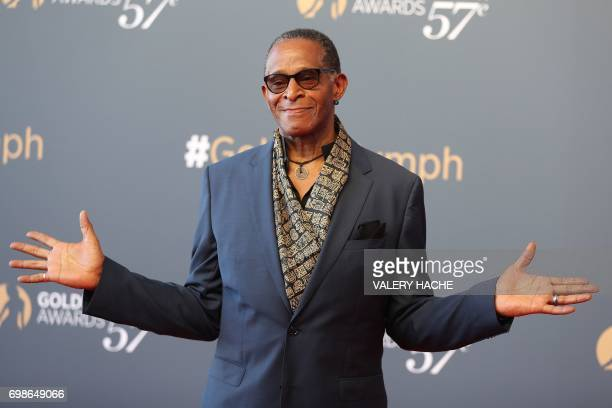 US actor Antonio Fargas poses during the closing ceremony of the 57th MonteCarlo Television Festival on June 20 2017 in Monaco / AFP PHOTO / VALERY...