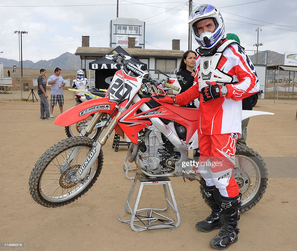 Actor Antonio Sabato Jr attends Oakley's Learn To Ride Motocross event at Starwest MX Track on May 23, 2011 in Lake Perris, California.