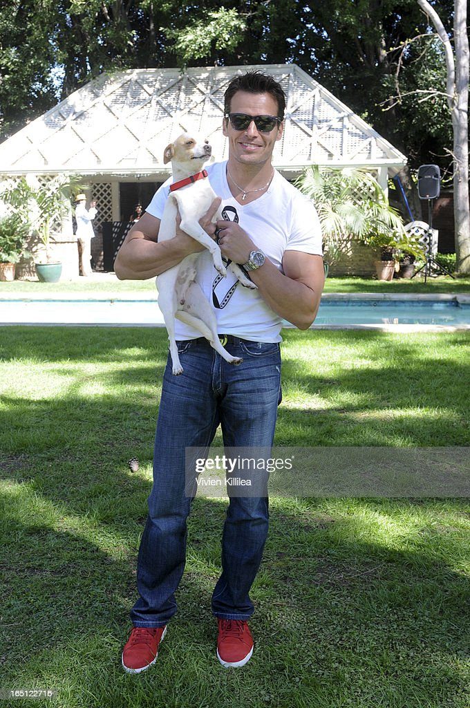 Actor Antonio Sabato Jr attends Posing Heroes, 'A Dog Day Afternoon' Benefiting A Wish For Animals - Inside on March 30, 2013 in Los Angeles, California.