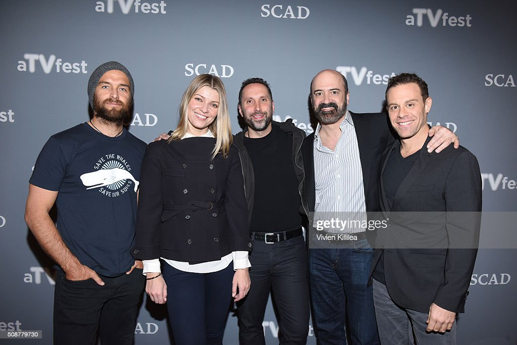 Actor Antony Starr, Actress <a gi-track='captionPersonalityLinkClicked' href=/galleries/search?phrase=Ivana+Milicevic&family=editorial&specificpeople=2529749 ng-click='$event.stopPropagation()'>Ivana Milicevic</a>, Writer and Executive Producer Adam Targum, Actor <a gi-track='captionPersonalityLinkClicked' href=/galleries/search?phrase=Matt+Servitto&family=editorial&specificpeople=655640 ng-click='$event.stopPropagation()'>Matt Servitto</a>, and Actor Matthew Rauch attend the 'Banshee' event during aTVfest 2016 presented by SCAD on February 6, 2016 in Atlanta, Georgia.