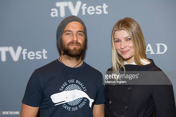 Actor Antony Starr and actress Ivana Milicevic attend 'Banshee' event during SCAD aTVfest 2016 Day 3 at the Four Seasons Atlanta Hotel on February 6...