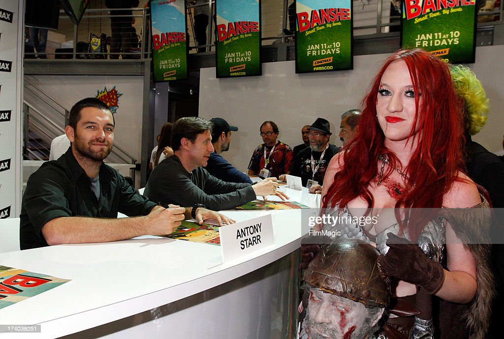 Actor Antony Starr (L) attends Cinemax's 'Banshee' cast autograph signing at San Diego Convention Center on July 19, 2013 in San Diego, California.