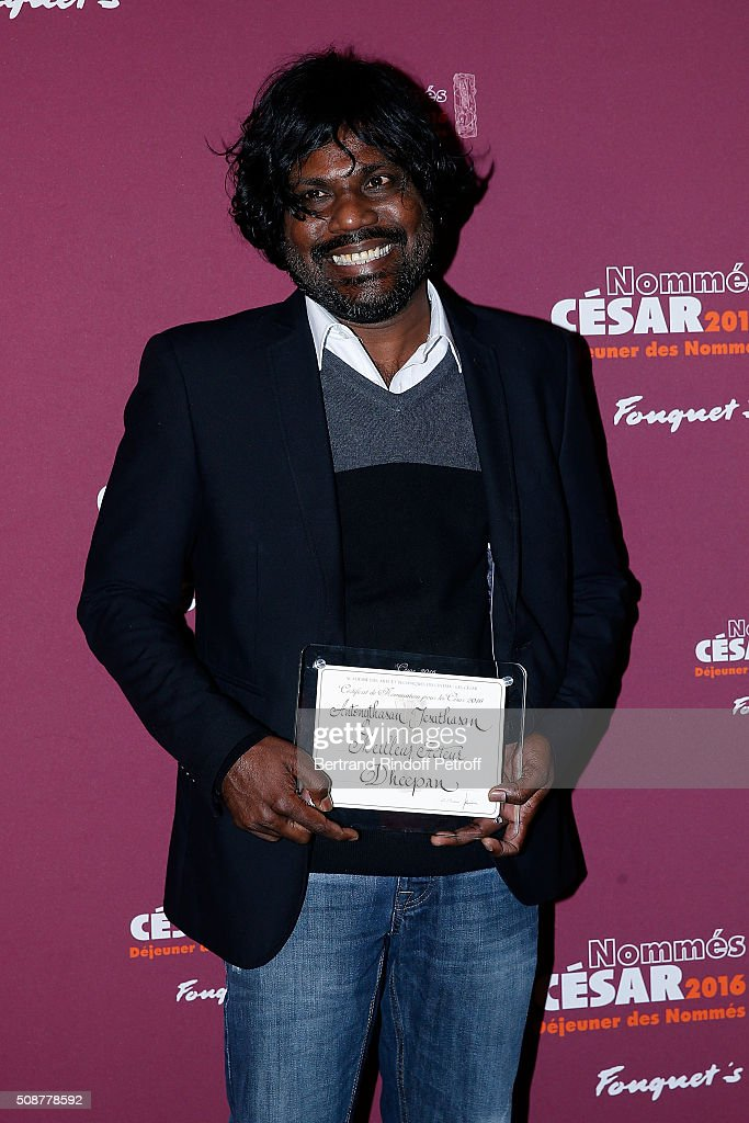 Actor Antonythasan Jesuthasan attends 'Cesar 2016 Nominee Luncheon' at Le Fouquet's on February 6, 2016 in Paris, France.