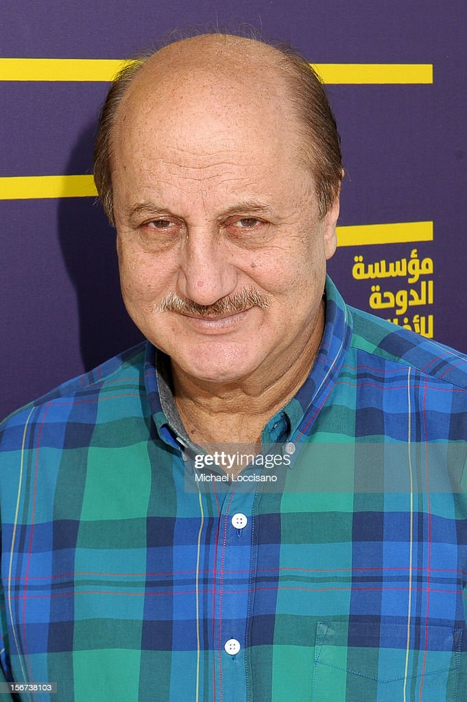 Actor Anupam Kher at the 2012 Doha Tribeca Film Festival at the Al Mirqab Boutique Hotel on November 20, 2012 in Doha, Qatar.