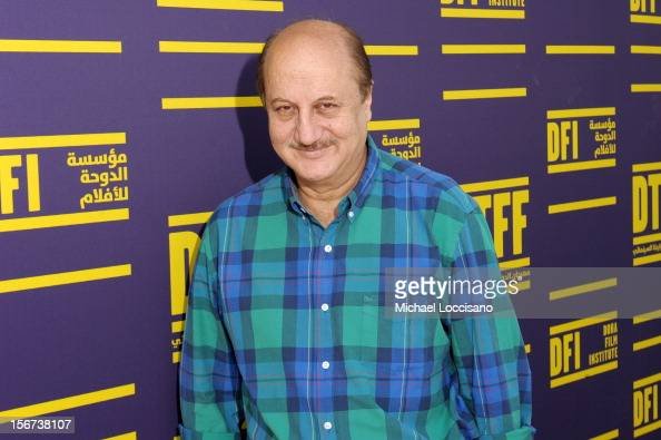 Actor Anupam Kher at the 2012 Doha Tribeca Film Festival at the Al Mirqab Boutique Hotel on November 20 2012 in Doha Qatar