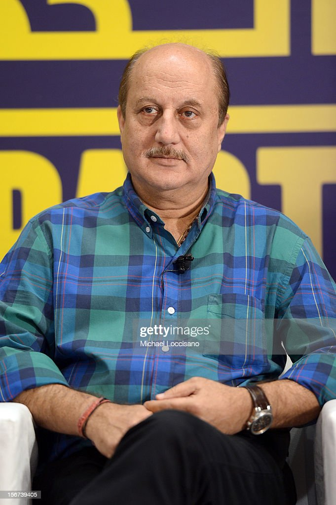 Actor Anupam Kher at the India Discussion during the 2012 Doha Tribeca Film Festival at the Al Mirqab Boutique Hotel on November 20, 2012 in Doha, Qatar.