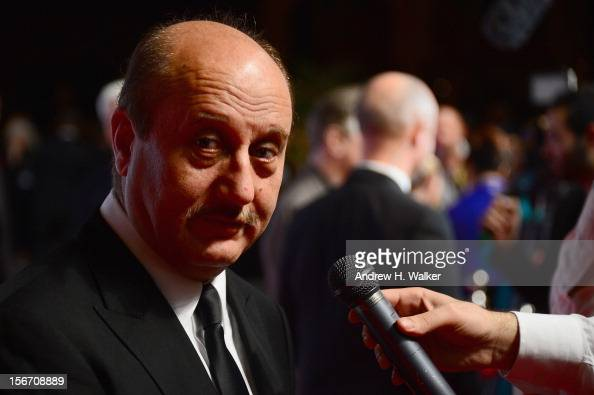 Actor Anupam Kher attends the 'Silver Linings Playbook' premiere at the Al Mirqab Hotel during the 2012 Doha Tribeca Film Festival on November 19...