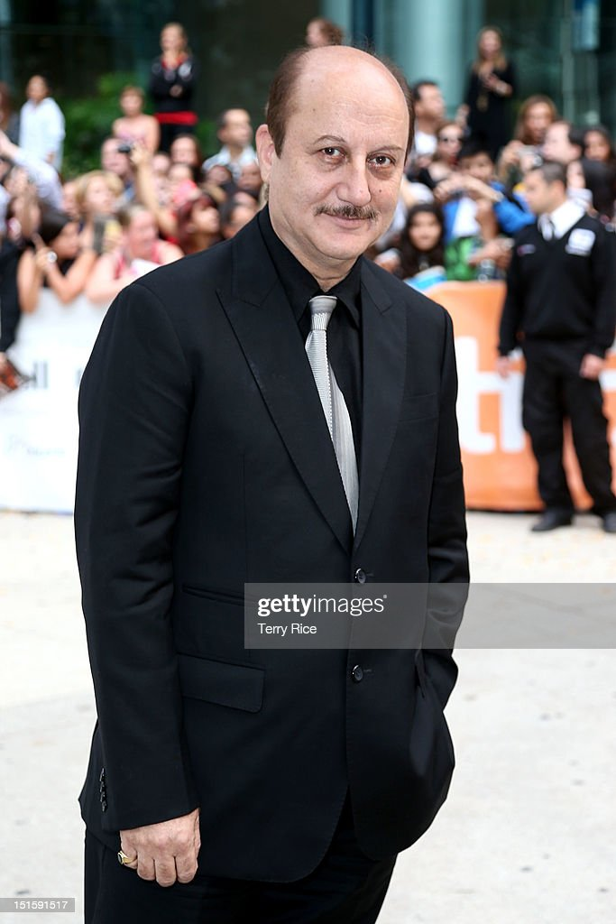 Actor Anupam Kher attends the 'Silver Linings Playbook' premiere during the 2012 Toronto International Film Festiva at Roy Thomson Halll on September...