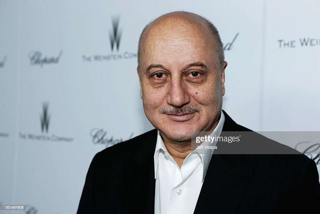 Actor Anupam Kher attends The Weinstein Company Academy Award Party hosted by Chopard at Soho House on February 23 2013 in West Hollywood California