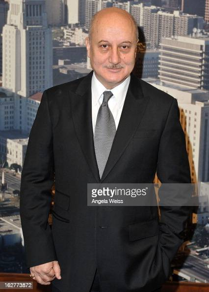Actor Anupam Kher receives Los Angeles City Proclamation at Los Angeles City Hall on February 26 2013 in Los Angeles California