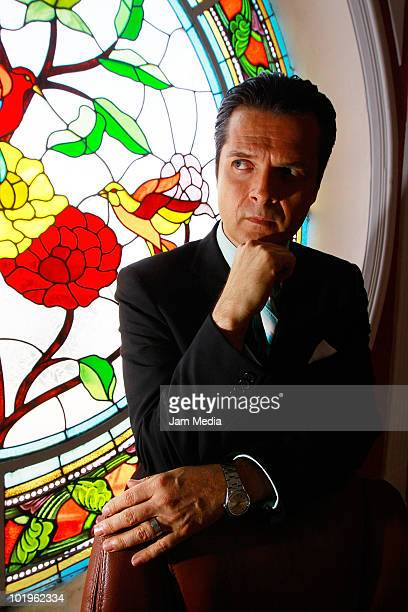 Actor Ariel Lopez Padilla during the recording of the soap opera Quiereme Tonto of Azteca TV at Xochimilco on June 8 2010 in Mexico City Mexico