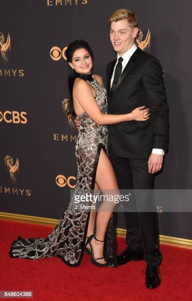 Actor Ariel Winter and Levi Meaden attend the 69th Annual Primetime Emmy Awards at Microsoft Theater on September 17 2017 in Los Angeles California