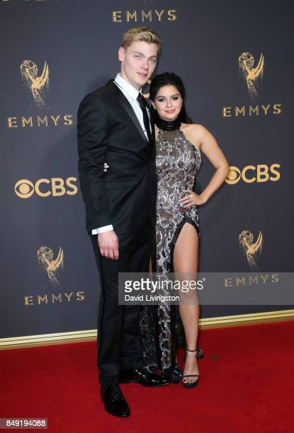Actor Ariel Winter and Levi Meaden attend the 69th Annual Primetime Emmy Awards Arrivals at Microsoft Theater on September 17 2017 in Los Angeles...