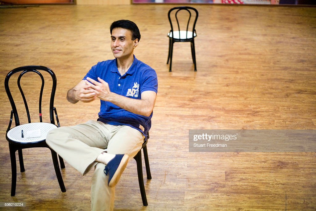 Actor Arif Zakaria in rehearsal for The Merchants of Bollywood in a studio in Mumbai India The Merchants of Bollywood an Indian theatrical dance...
