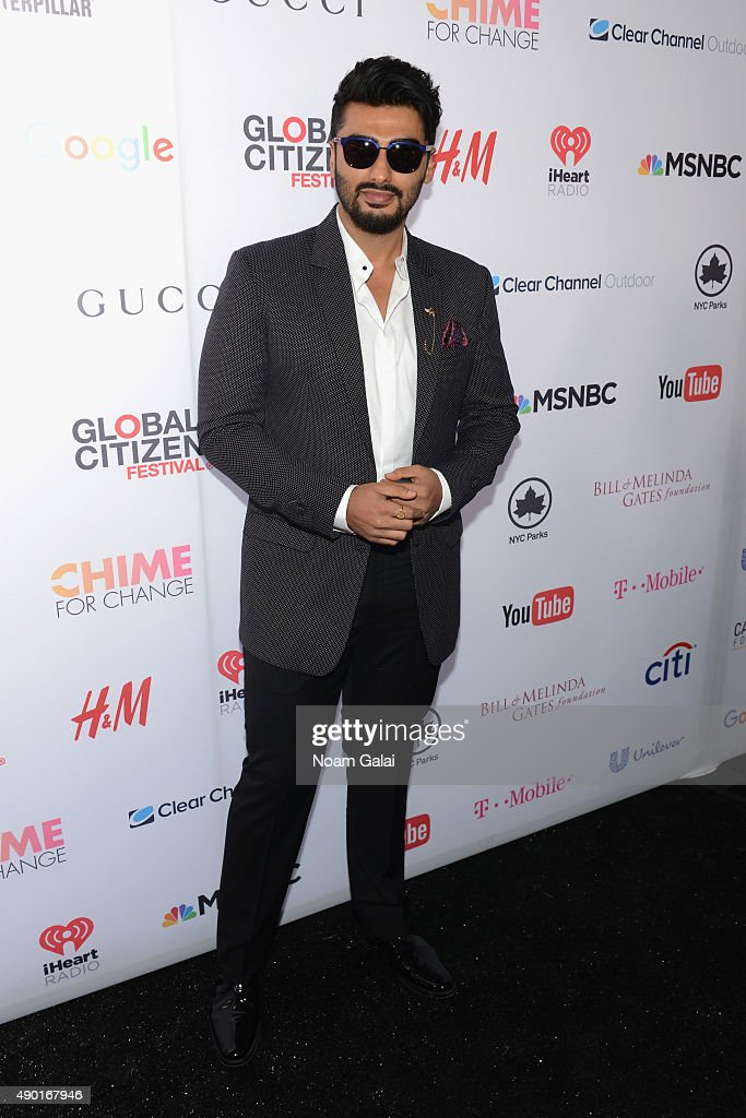 Actor <a gi-track='captionPersonalityLinkClicked' href=/galleries/search?phrase=Arjun+Kapoor&family=editorial&specificpeople=6147223 ng-click='$event.stopPropagation()'>Arjun Kapoor</a> attends the 2015 Global Citizen Festival to end extreme poverty by 2030 in Central Park on September 26, 2015 in New York City.