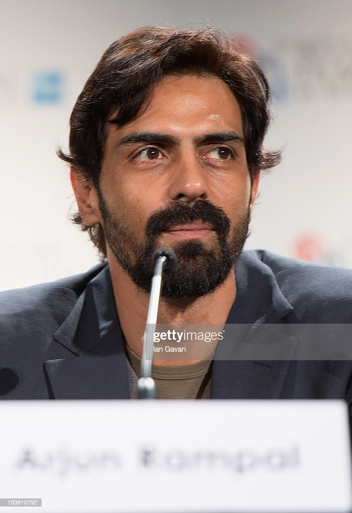 Actor <a gi-track='captionPersonalityLinkClicked' href=/galleries/search?phrase=Arjun+Rampal&family=editorial&specificpeople=684118 ng-click='$event.stopPropagation()'>Arjun Rampal</a> attends the 'Chakravyuh' press conference during the 56th BFI London Film Festival at the Empire Leicester Square on October 11, 2012 in London, England.