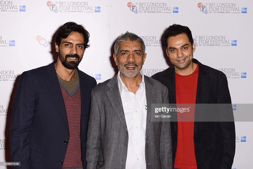 Actor <a gi-track='captionPersonalityLinkClicked' href=/galleries/search?phrase=Arjun+Rampal&family=editorial&specificpeople=684118 ng-click='$event.stopPropagation()'>Arjun Rampal</a>, director Prakash Jha and actor <a gi-track='captionPersonalityLinkClicked' href=/galleries/search?phrase=Abhay+Deol&family=editorial&specificpeople=5377911 ng-click='$event.stopPropagation()'>Abhay Deol</a> attend the 'Chakravyuh' photocall during the 56th BFI London Film Festival at the Empire Leicester Square on October 11, 2012 in London, England.
