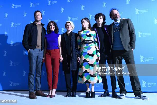 Actor Armie Hammer actresses Esther Garrel Victoire Du Bois Amira Casar actor Timothee Chalamet and film director Luca Guadagnino attend the 'Call Me...