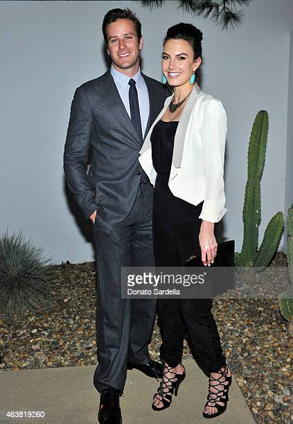 Actor Armie Hammer and Elizabeth Chambers attend a private dinner in honor of British designer Thomas Heatherwick and the Hammer Museum on February...