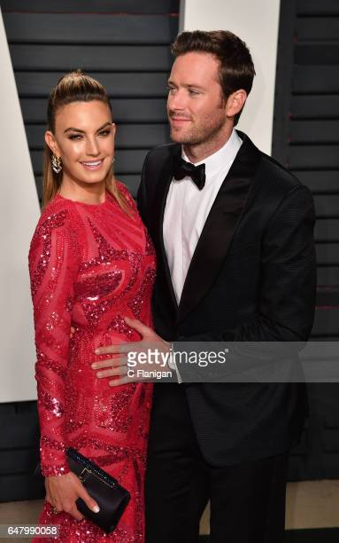 Actor Armie Hammer and Elizabeth Chambers attend the 2017 Vanity Fair Oscar Party hosted by Graydon Carter at Wallis Annenberg Center for the...
