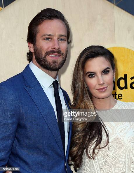 Actor Armie Hammer and wife actress Elizabeth Chambers attend the Sundance Institute NIGHT BEFORE NEXT event at The Theatre at The Ace Hotel on...