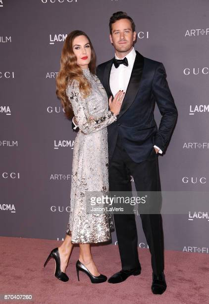 Actor Armie Hammer and wife Elizabeth Chambers attend the 2017 LACMA Art Film gala at LACMA on November 4 2017 in Los Angeles California