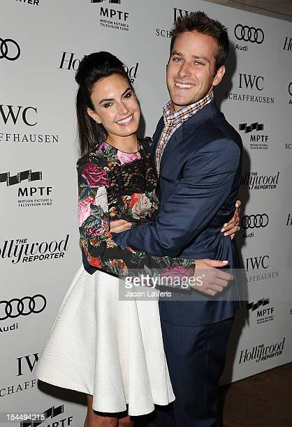 Actor Armie Hammer and wife Elizabeth Chambers attend the 2nd annual Reel Stories Real Lives benefiting the Motion Picture Television Fund at Milk...