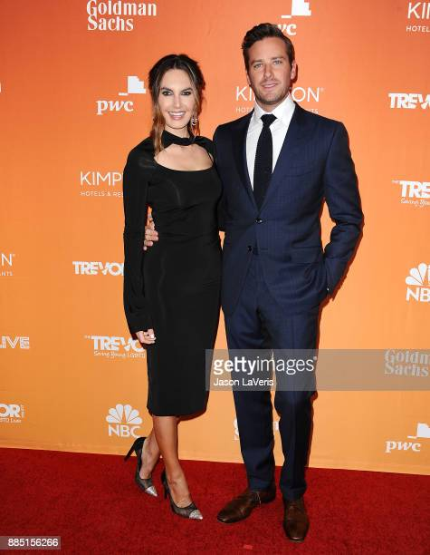 Actor Armie Hammer and wife Elizabeth Chambers attend The Trevor Project's 2017 TrevorLIVE LA at The Beverly Hilton Hotel on December 3 2017 in...