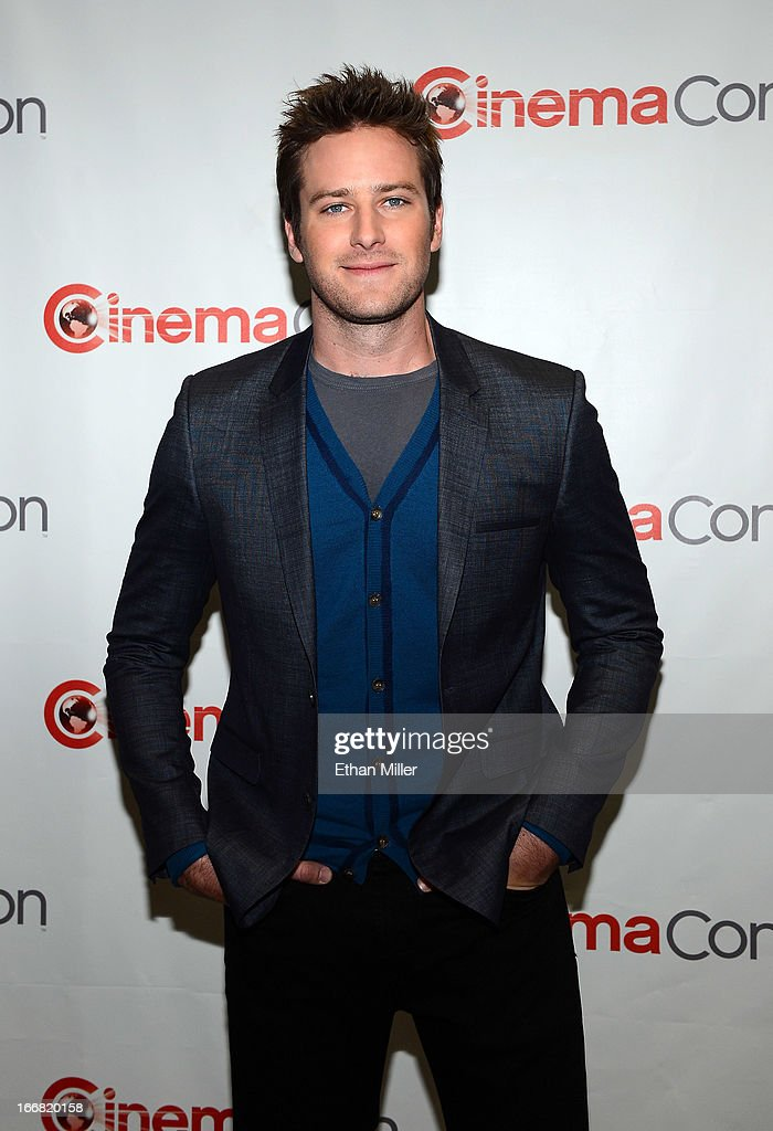 Actor Armie Hammer arrives at a Walt Disney Studios Motion Pictures presentation to promote the upcoming film 'The Lone Ranger' at Caesars Palace...