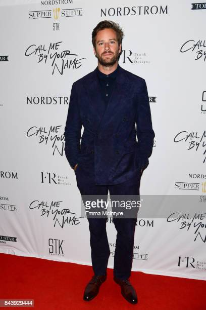 Actor Armie Hammer arrives at Nordstrom Supper Suite 'Call Me By Your Name' official premiere after party at STK Toronto on September 7 2017 in...