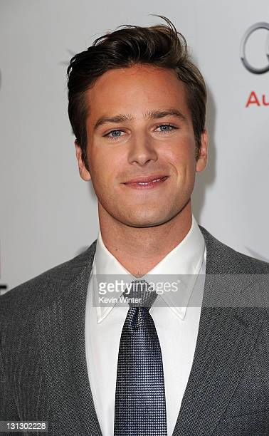 Actor Armie Hammer arrives at the 'J Edgar' opening night gala during AFI FEST 2011 presented by Audi held at Grauman's Chinese Theatre on November 3...