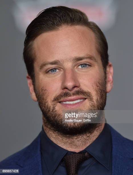 Actor Armie Hammer arrives at the premiere of 'Cars 3' at Anaheim Convention Center on June 10 2017 in Anaheim California