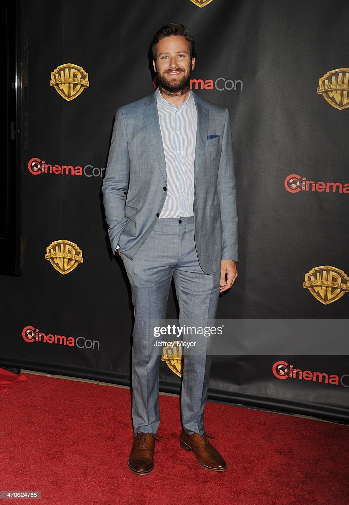 Actor Armie Hammer arrives at Warner Bros. Pictures The Big Picture at The Colosseum at Caesars Palace during CinemaCon, the official convention of the National Association of Theatre Owners, on April 21, 2015 in Las Vegas, Nevada.
