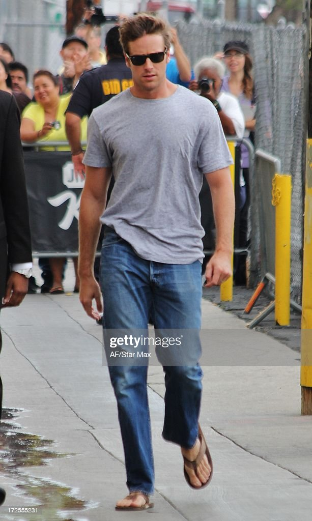Actor Armie Hammer as seen on July 2, 2013 in Los Angeles, California.