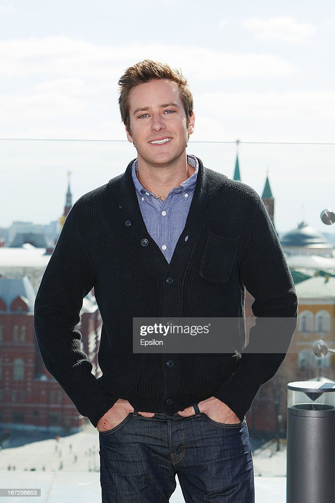 Actor <a gi-track='captionPersonalityLinkClicked' href=/galleries/search?phrase=Armie+Hammer&family=editorial&specificpeople=5313113 ng-click='$event.stopPropagation()'>Armie Hammer</a> attends a photocall for Walt Disney Pictures' 'Lone Ranger' at Ritz Carlton Hotel on April, 23, 2013 in Moscow, Russia. (Photo Epsilon/Getty Images).