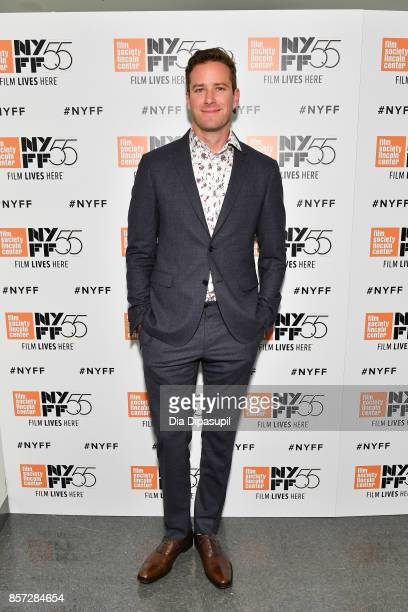 Actor Armie Hammer attends a screening of 'Call Me by Your Name' during the 55th New York Film Festival at Alice Tully Hall on October 3 2017 in New...
